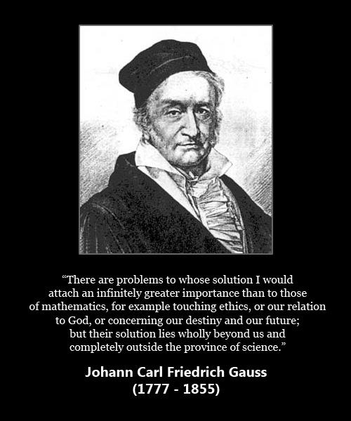 Gauss Quote