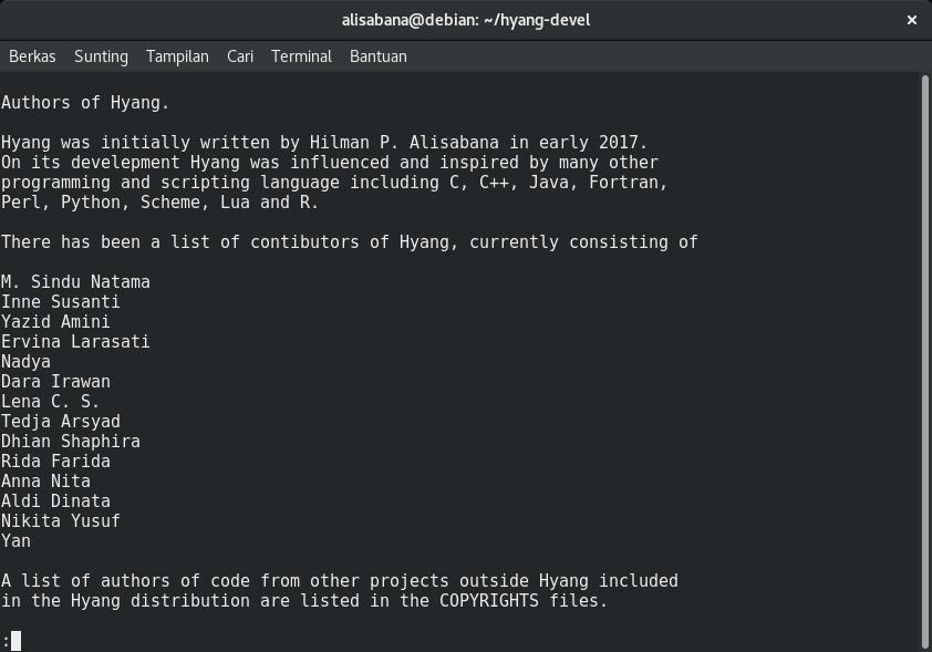 Hyang 1.3.0 Contributors