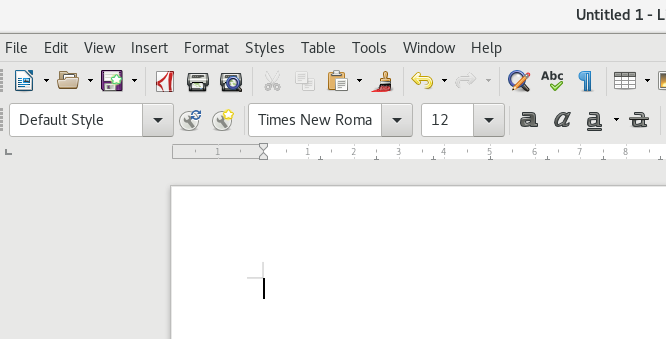 Times New Roman on LibreOffice
